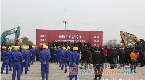 桐城市东部新城区公共基础设施PPP项目正式开工建设