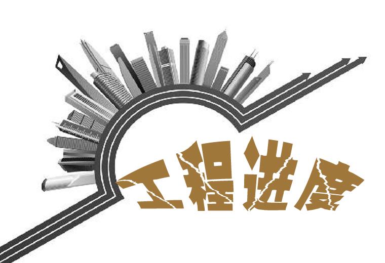 铜官区:中航长江广场8月工程进度