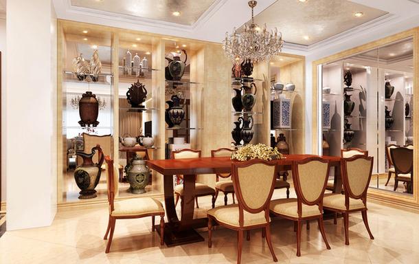 2016年现代时尚 家庭客厅餐厅装修效果图大全