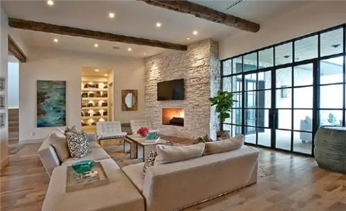 2016新款简欧风格新房装修电视背景墙设计效果图高清图片