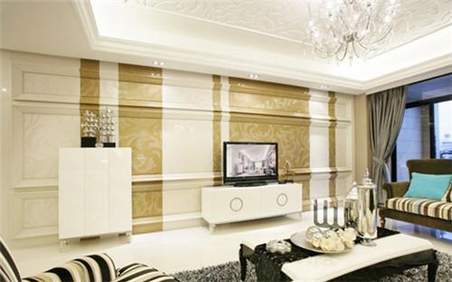 2016新款简欧风格新房装修电视背景墙设计效果图