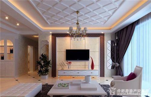 简欧式客厅背景墙装修效果图,2016装修时尚大片图片
