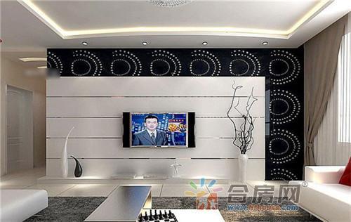 现代简约电视背景墙 2016客厅装修效果图大全
