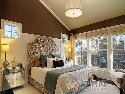 2016新款美式小户型卧室装修实景图 优雅大方高清图片