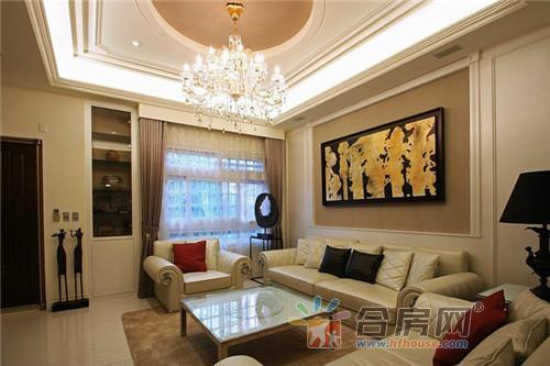 平方米美式混搭别墅客厅装修效果图2016图片大全高清图片