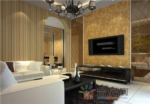 现代简欧风格客厅装修电视背景墙效果图大全2016图片图片