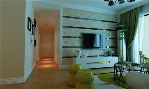 2016现代简约风格客厅沙发背景墙装修效果图