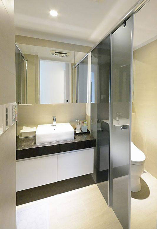 2016新房装修小卫生间装修效果图大全图片欣赏.