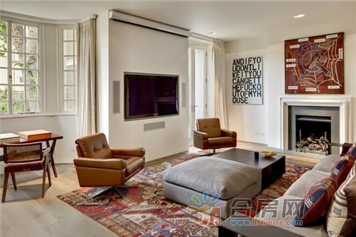 简约欧式别墅大客厅图片户型装修效果图2016花园别墅风格带外观图片