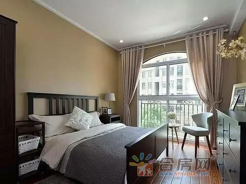 2016新款美式小户型客厅家装 卧室装修实景图高清图片