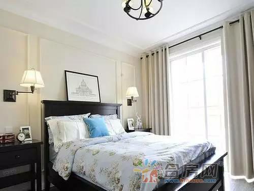 2016新款装修设计,美式小户型卧室装修实景图高清图片