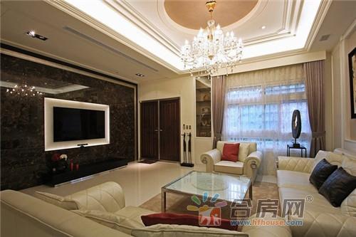 平方米美式混搭别墅客厅装修效果图高清图片