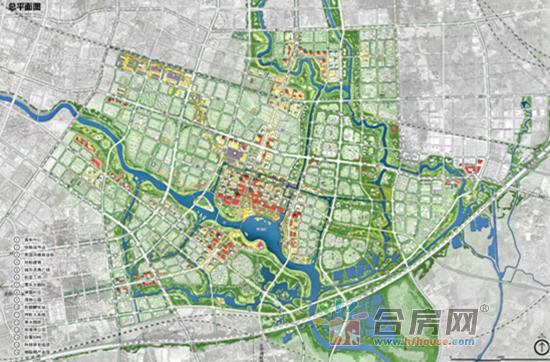 京东南大学城市规划设计研究院有限公司设计方案总平面图-合肥东部
