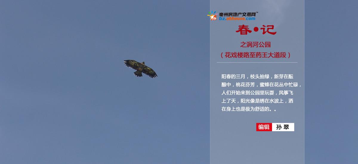 亳州涡河公园春·记行
