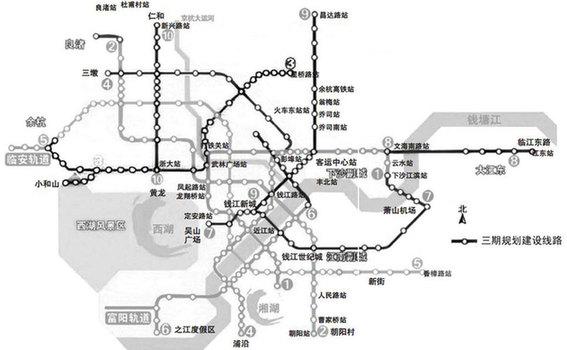 2022年四通八达的10条地铁线将建成 带你穿梭杭州