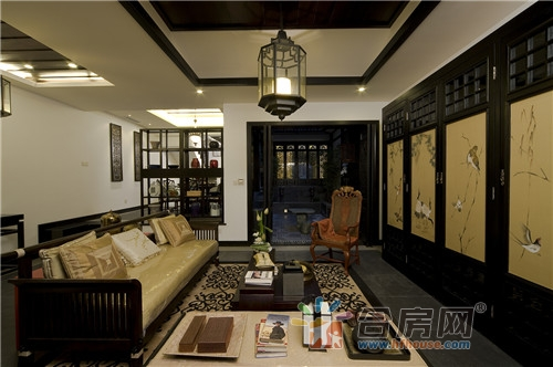 157平米三居室新中式风格装修效果图2017图片大全图片