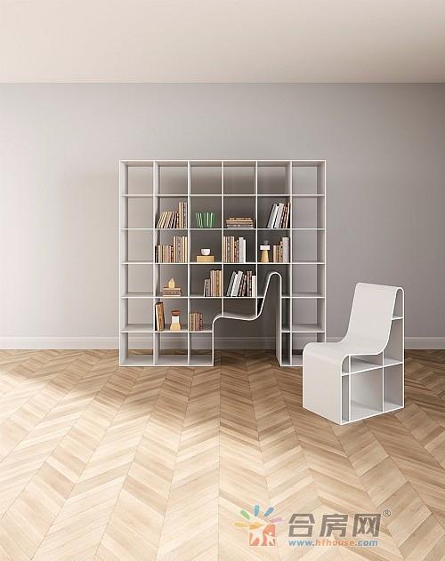 把书架和椅子融为一体的家具Bookchair