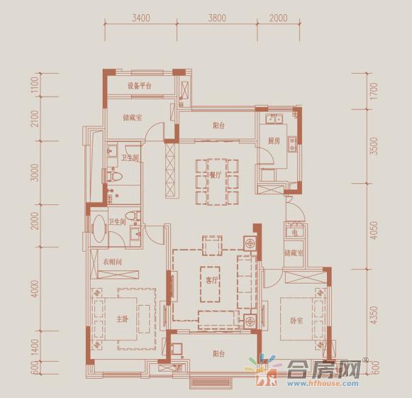 客厅:客厅连南向阳台,采光通风条件良好。 卧室:双卧朝南,采光条件优越。 阳台:南北双阳台,采光条件优越。