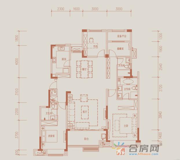客厅:客厅连南向阳台,采光通风条件良好。