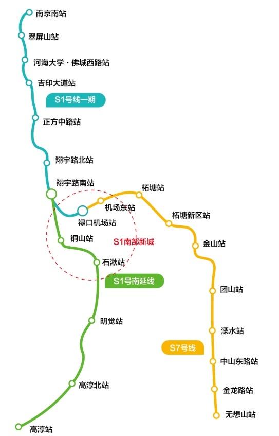 地铁S1号线南延线-碧桂园 S1秦淮世家 地铁在旁繁华尽享图片