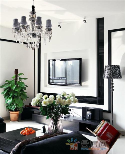 黑白灰经典色调现代简约风格装修效果图