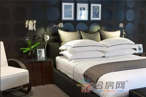 2017现代风格卧室装修床头背景墙效果图欣赏