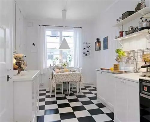 小编分享多个今年最流行的北欧风格小户型厨房装修效果图,非常的清新图片