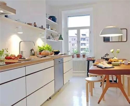 2017北欧风格小户型厨房装修效果图案例欣赏