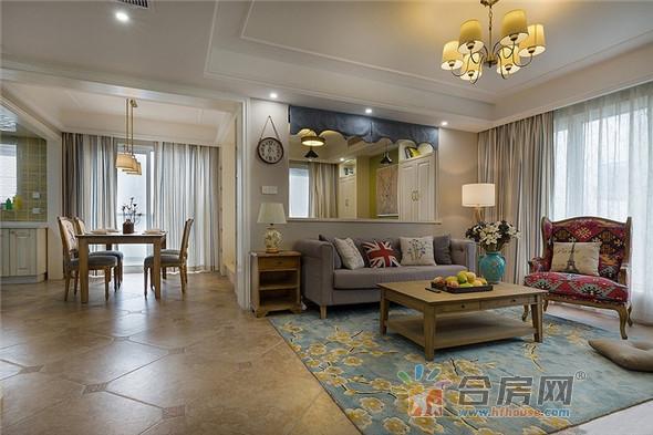 145平米公寓美式风格装修案例2017图片大全图片