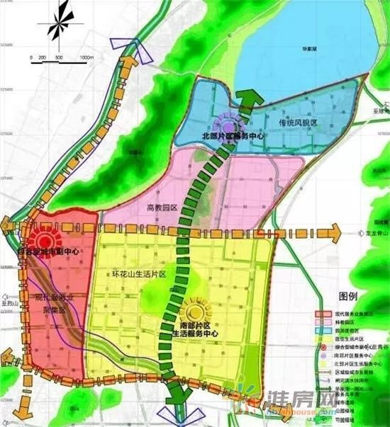 东部新城规划图(图片来源:淮房网)-城市向东 2017年你不得不关注