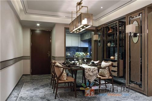120平米公寓新中式风格装修效果图2017图片大全