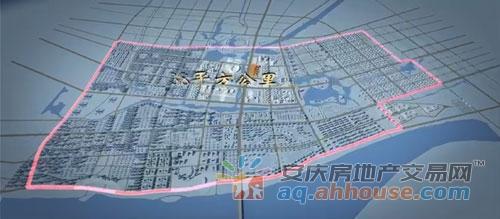 安庆东部新城规划面积(图片来源:3D宣传片)-安庆,向东看 2017年
