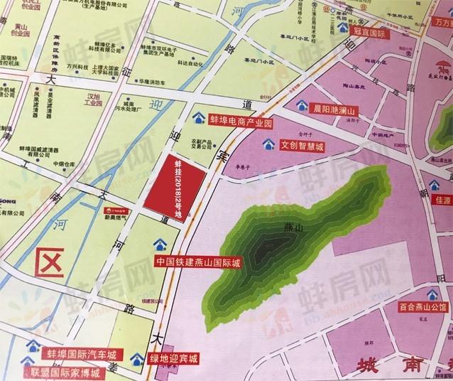 蚌埠迎宾大道西84.5亩地暂停挂牌