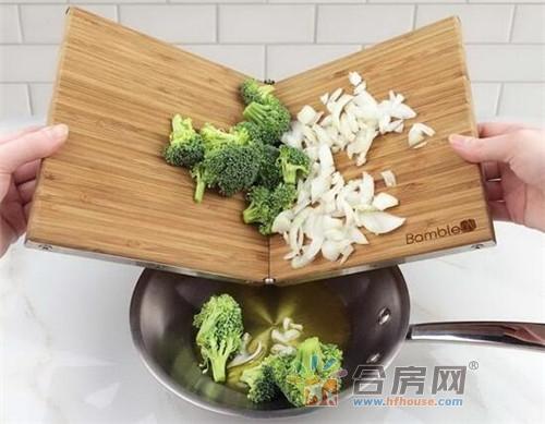 可折叠的多功能菜板,一块相当于多块/还可以剥蒜