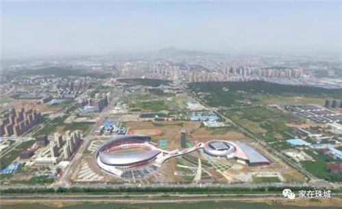 蚌埠体育中心俯瞰图
