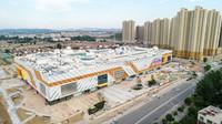 淮北万达广场外立面幕墙完工 预计9月28正式开业