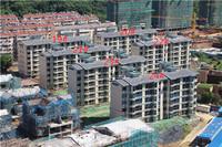 荣盛华府8月工程进度:5#楼已建至11层左右
