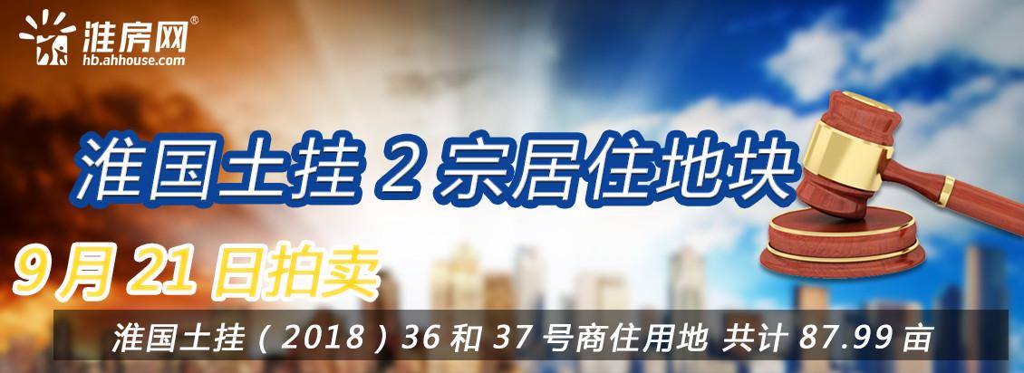 淮房网直播|淮国土挂(2018)36-37号两宗87.99亩居住用地正在拍卖