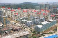 荣盛华府9月工程进度:5#楼已建至13层左右