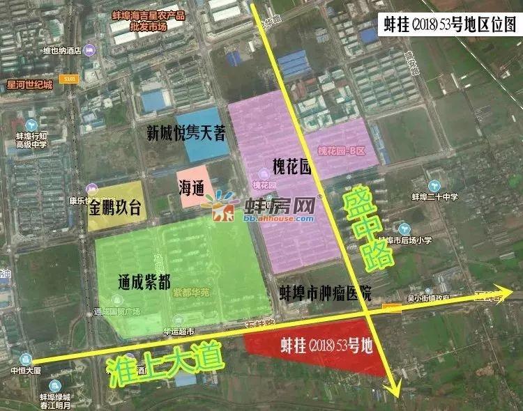 万达蚌埠淮上区地块位置