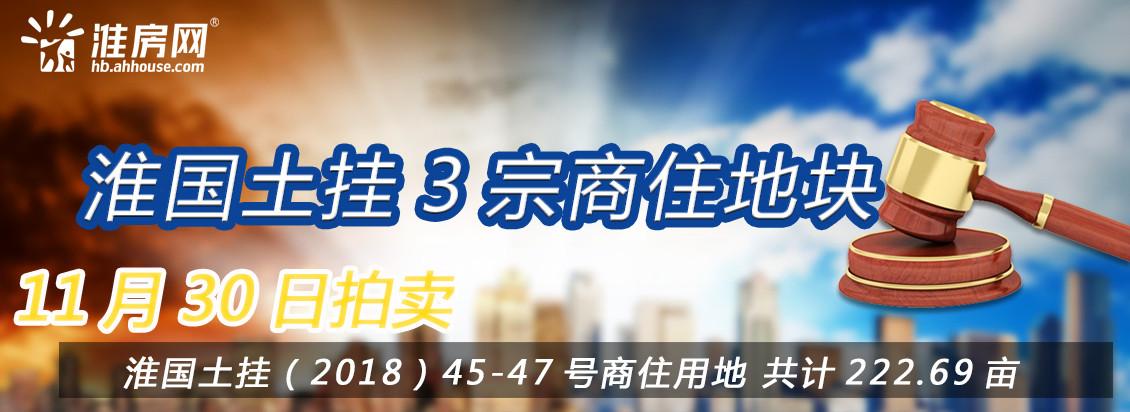 淮房网直播|淮国土挂三宗223亩商住用地正在拍卖 流拍地块占主流