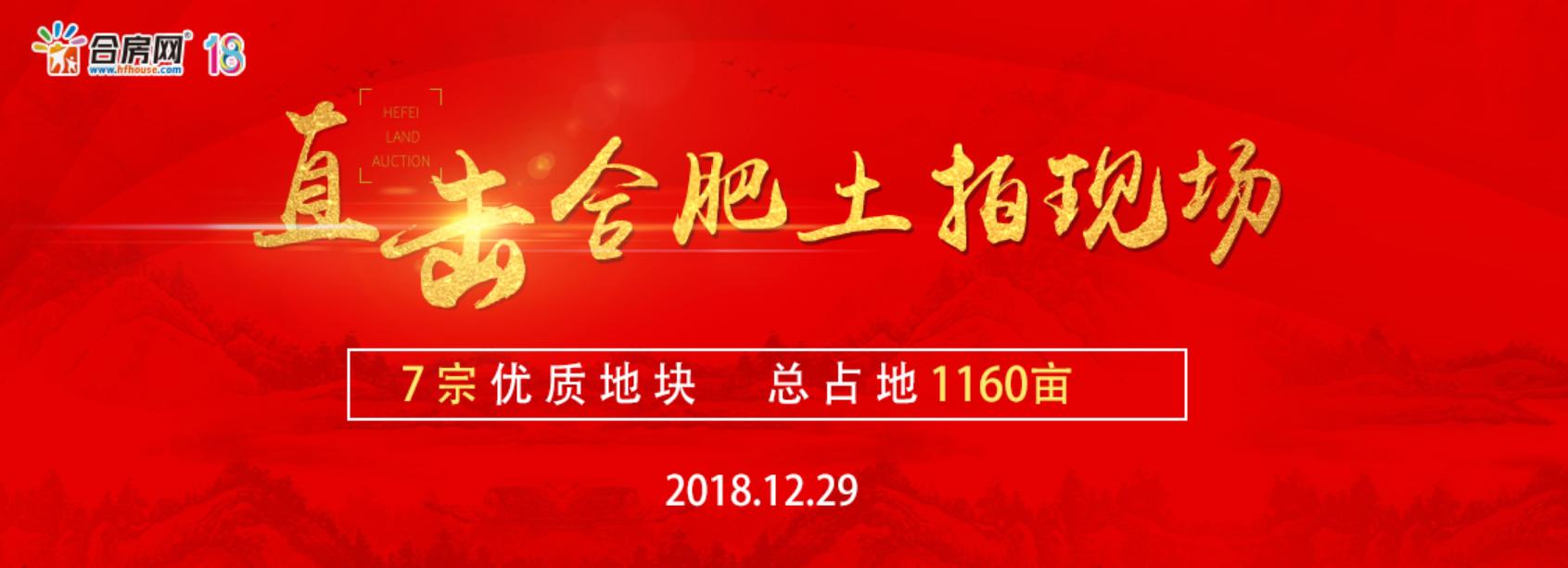 实录 | 合肥今日土拍成交6宗地,土市揽金24.28亿元!