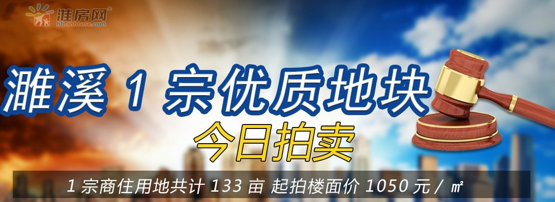 淮房网直播|濉国土挂一宗约133亩商住地块今日再次拍卖!